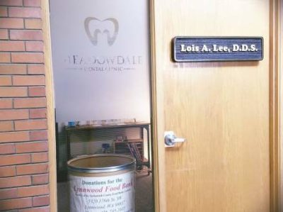 Door to Dental Clinic in Lynnwood