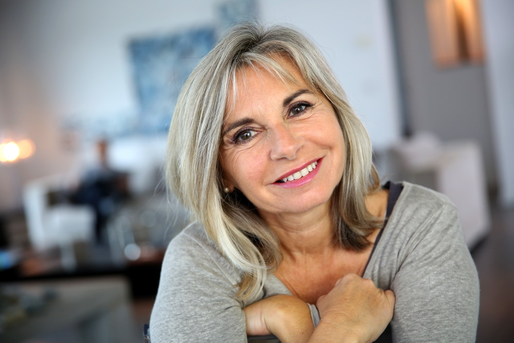 mature happy woman portrait